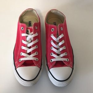 Converse All Star shoes. Pink women's size 8.